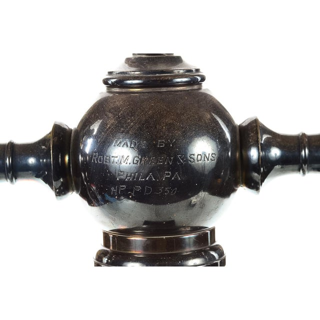Metal Robert M. Green & Sons Marble Soda Fountain Tap Stand For Sale - Image 7 of 9