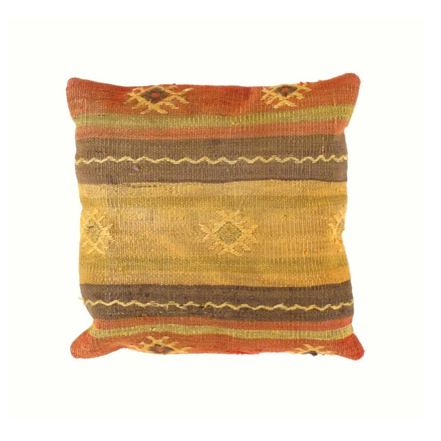 Vintage Kilim Pillow from Turkey - Image 2 of 3