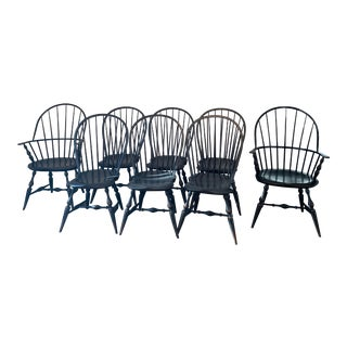 Warren Chair Works Dining and Hostess Chairs- 8 Pieces For Sale