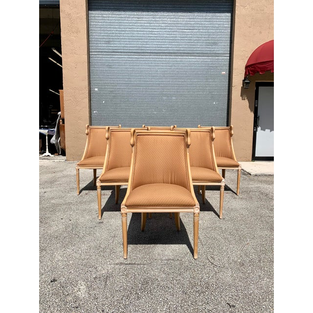 """Mid-Century Modern """"Gondola"""" Swan Neck Dining Chairs - Set of 6 For Sale - Image 11 of 13"""