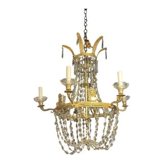 1930's Swedish Empire Chandelier For Sale
