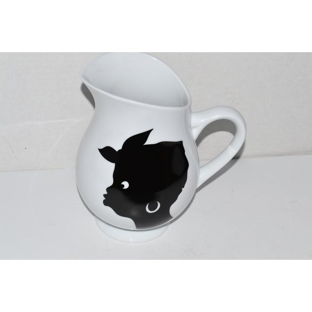 Contemporary Bernardaud Kara Walker Silhouettes Limited Edition Pitcher For Sale - Image 3 of 7