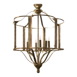Currey & Co. Ladock Silver Lantern For Sale
