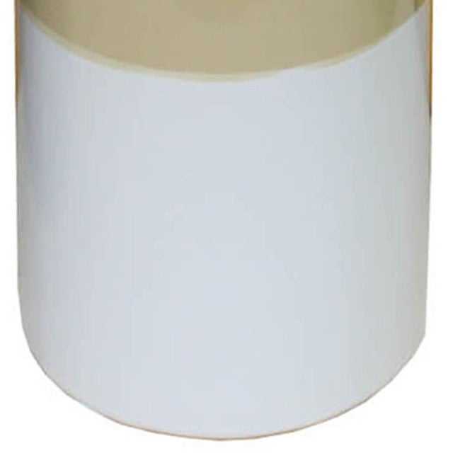 Contemporary Contemporary Yellow & White Vase For Sale - Image 3 of 4
