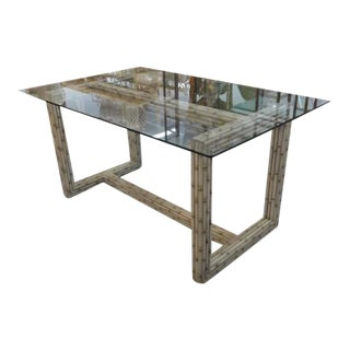 Vintage Faux Bamboo Desk