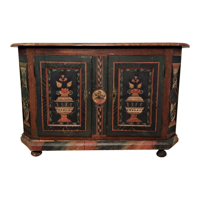 18th Century American Handpainted Cupboard For Sale