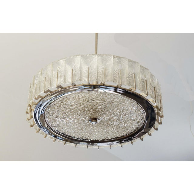Silver Large Austrian Chandelier by Rupert Nikoll, 1950s For Sale - Image 8 of 11
