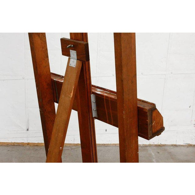 Mid 20th Century Midcentury Wooden Adjustable Painters Art Studio Easel For Sale - Image 5 of 13
