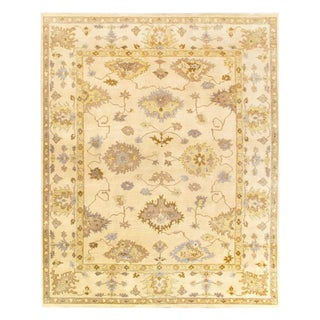 Pasargad Ivory Fine Hand Knotted Oushak Rug 8' X 10' For Sale