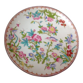 Antique English Mintons Floral Candy Dish For Sale