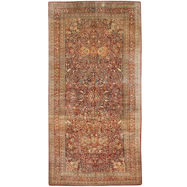 Exceptional Extremely Fine Antique Persian Meshed Gallery Carpet For Sale