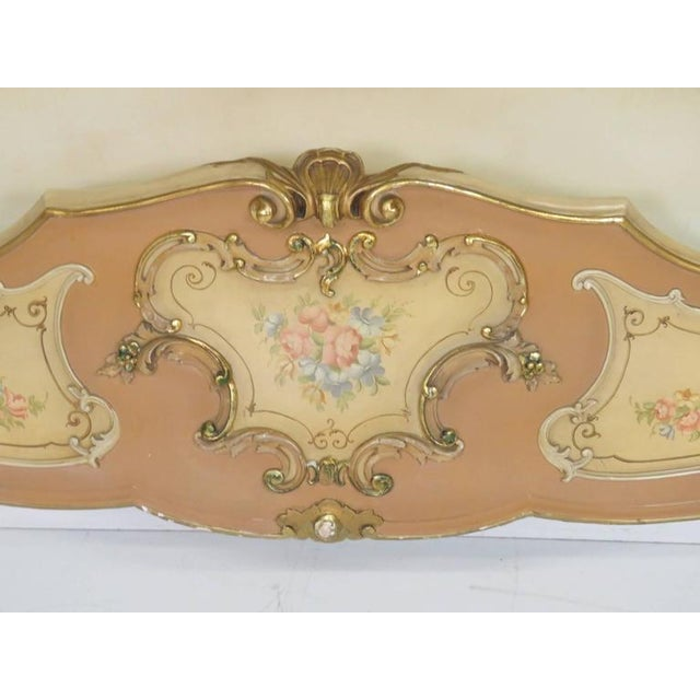 Italian Venetian Style Paint Decorated Headboard For Sale - Image 3 of 8
