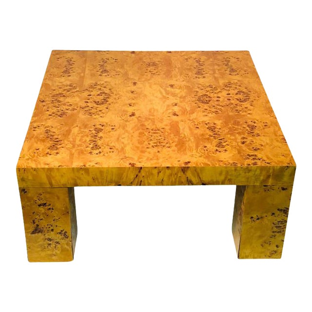 Burl Wood Table by Willy Rizzo For Sale