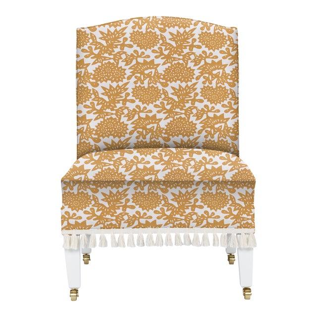 Casa Cosima LuRu Home for Casa Cosima Sintra Chair, Flower, Cumin For Sale - Image 4 of 4