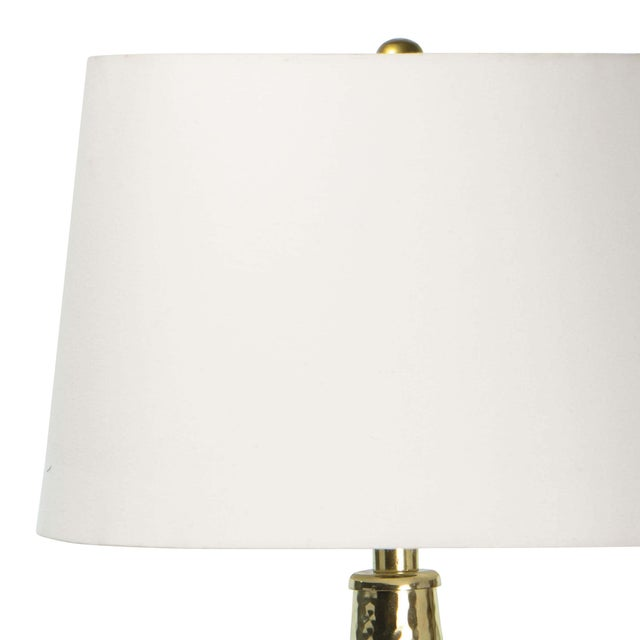 Taj Metal Table Lamp in Polished Brass For Sale - Image 4 of 6