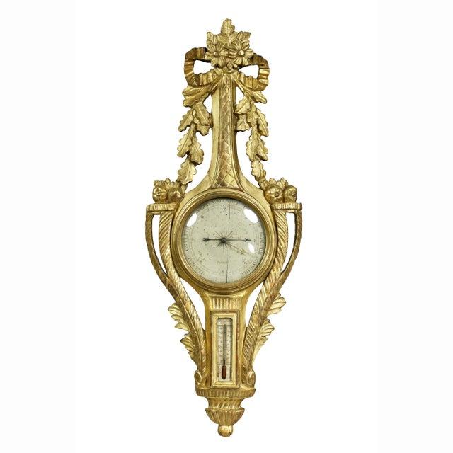 Louis XVI Giltwood Barometer For Sale - Image 9 of 9