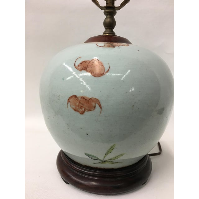 Asian Early 19th Century Famile Rose Playing Children Vintage Table Lamp For Sale - Image 3 of 5