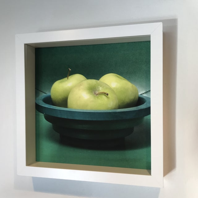 Bring home the green x 3 this holiday season with an original photograph of Granny Smith apples in a vintage Italian wood...
