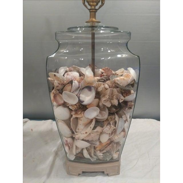 Shell Glass Urn Lamps John Richard Shades - Pair - Image 9 of 11