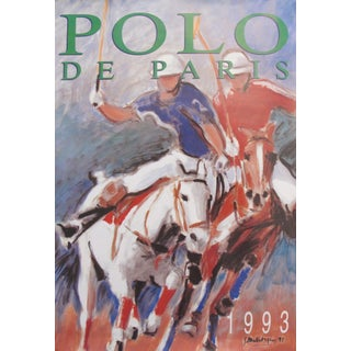 1993 French Horse Poster, Polo De Paris