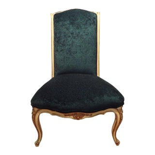 1920's French Louis XV Style Painted and Gilt Wood Chair For Sale