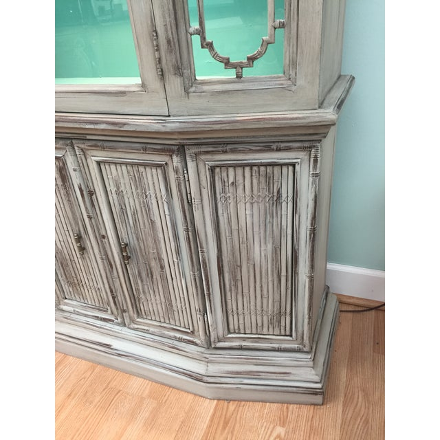 Gray Mid-Century China Cabinet Hutch - Image 11 of 11