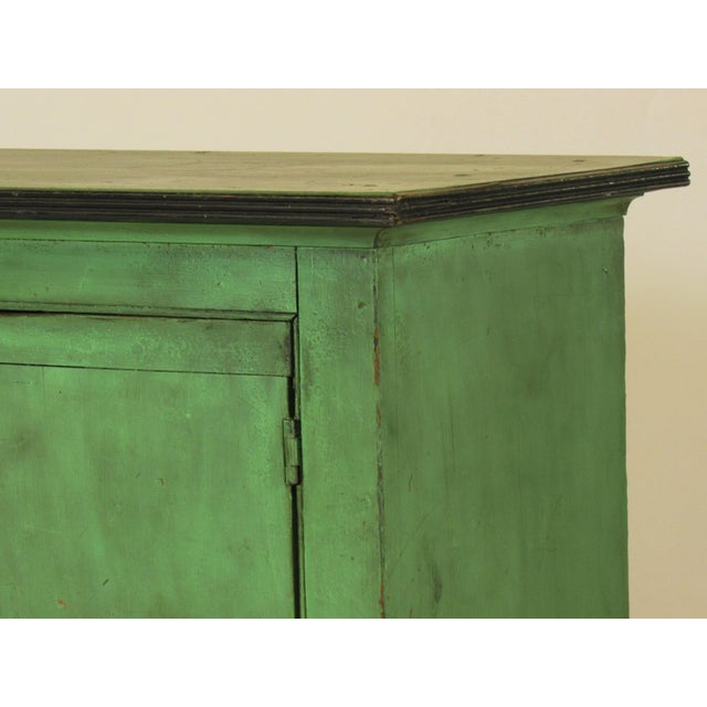 19th C. American Green Painted Cupboard For Sale - Image 9 of 12