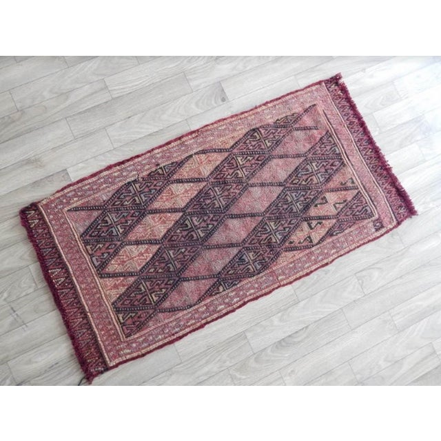 Islamic Masterwork Hand-Woven Rug Braided Small Kilim 1′6″ × 3′ For Sale - Image 3 of 8