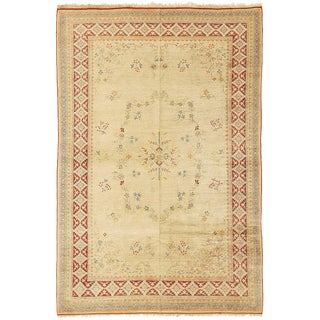 Contemporary Turkish Pastel Floral Rug-5′6″ × 8′3″ For Sale