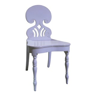 Ivory Lacquered Hall Chair