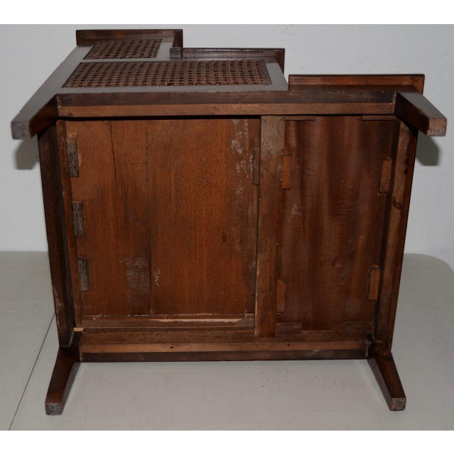 Brown 18th to 19th Century French Mahogany & Cane Steps For Sale - Image 8 of 9
