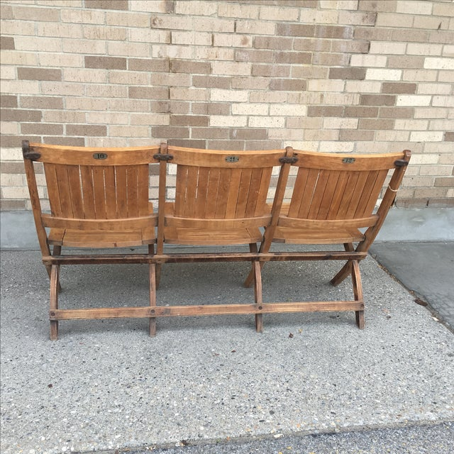 Vintage Tandem Folding Stadium Theatre Seats For Sale In New York - Image 6 of 7