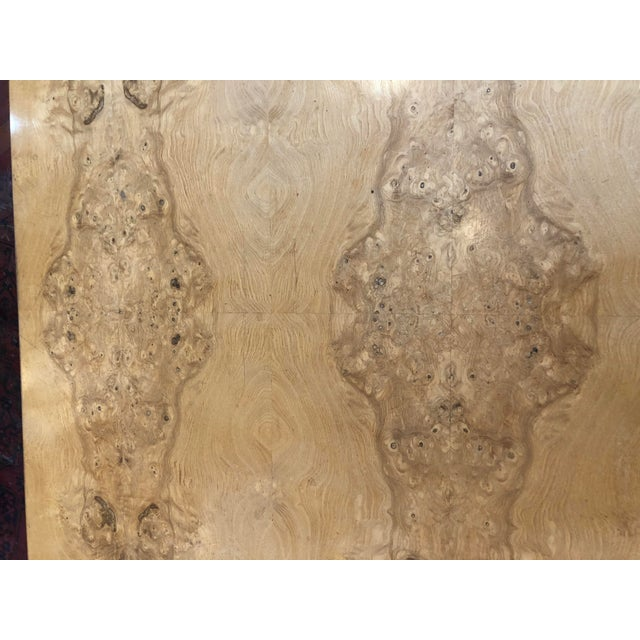 Vintage 1970's Henredon Olive Burl Waterfall Desk/Table For Sale In Chicago - Image 6 of 13