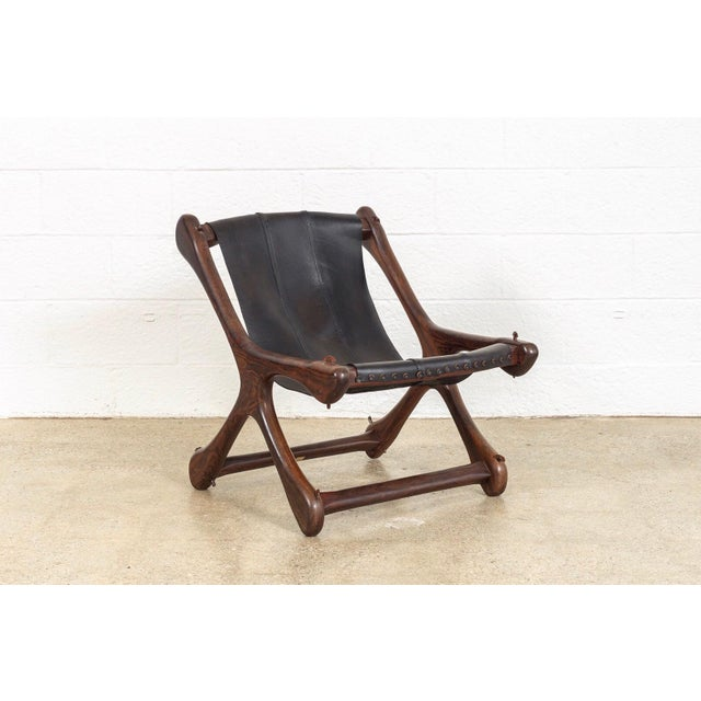 Mid Century Mexican Modern Don Shoemaker Sling Chair For Sale - Image 10 of 10