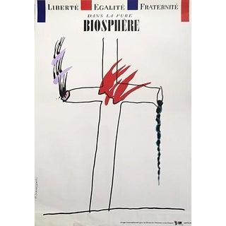 1989 Original Poster for Artis 89's Images Internationales Pour Les Droits De l'Homme Et Du Citoyen - Dans La Pure Biosphère For Sale