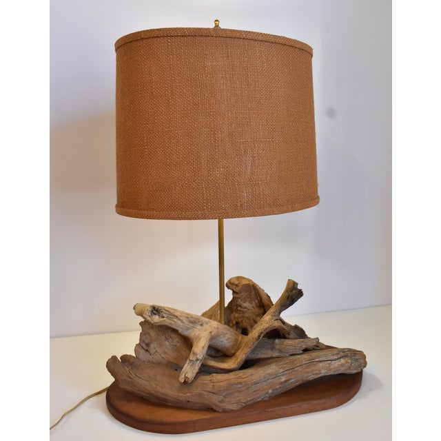 1960s Drift Wood Lamp For Sale - Image 10 of 10
