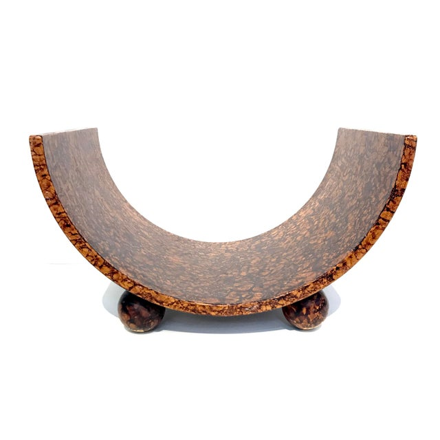 Post Modern Faux Burl Magazine Rack For Sale - Image 4 of 7