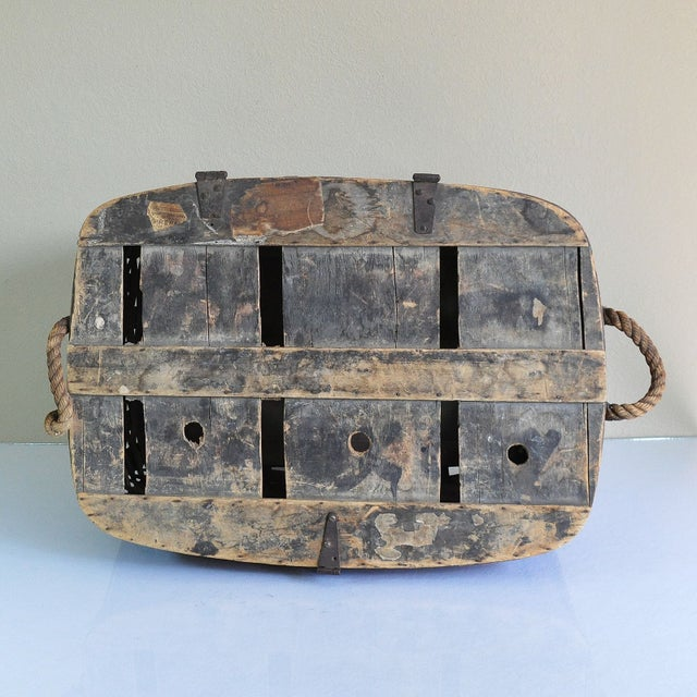 Large Rustic Antique Shipping Basket Trunk - Image 6 of 8