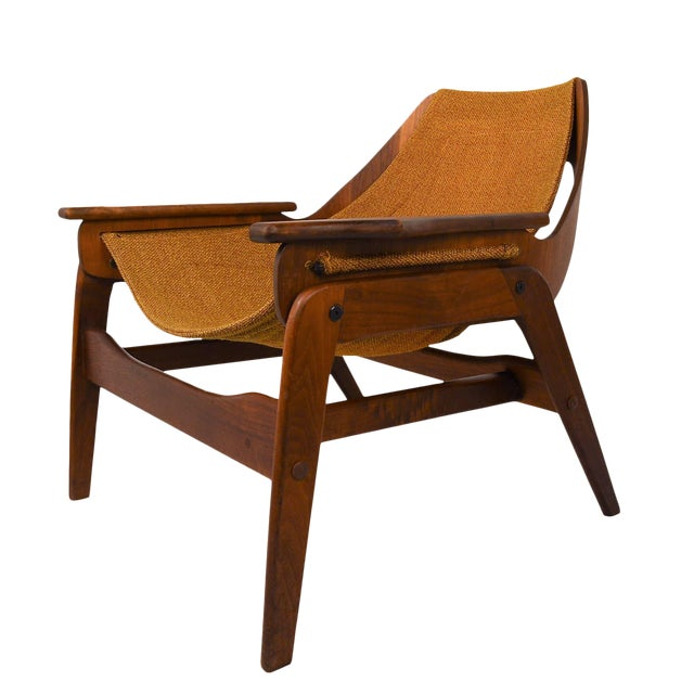 Mid Century Modern Sling Chair By Jerry Johnson - Image 1 of 7