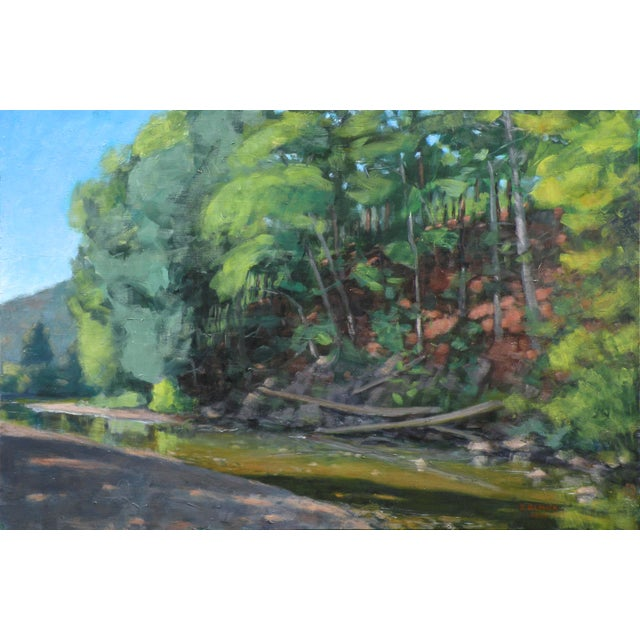 Original Painting of a River in Vermont For Sale In Providence - Image 6 of 6