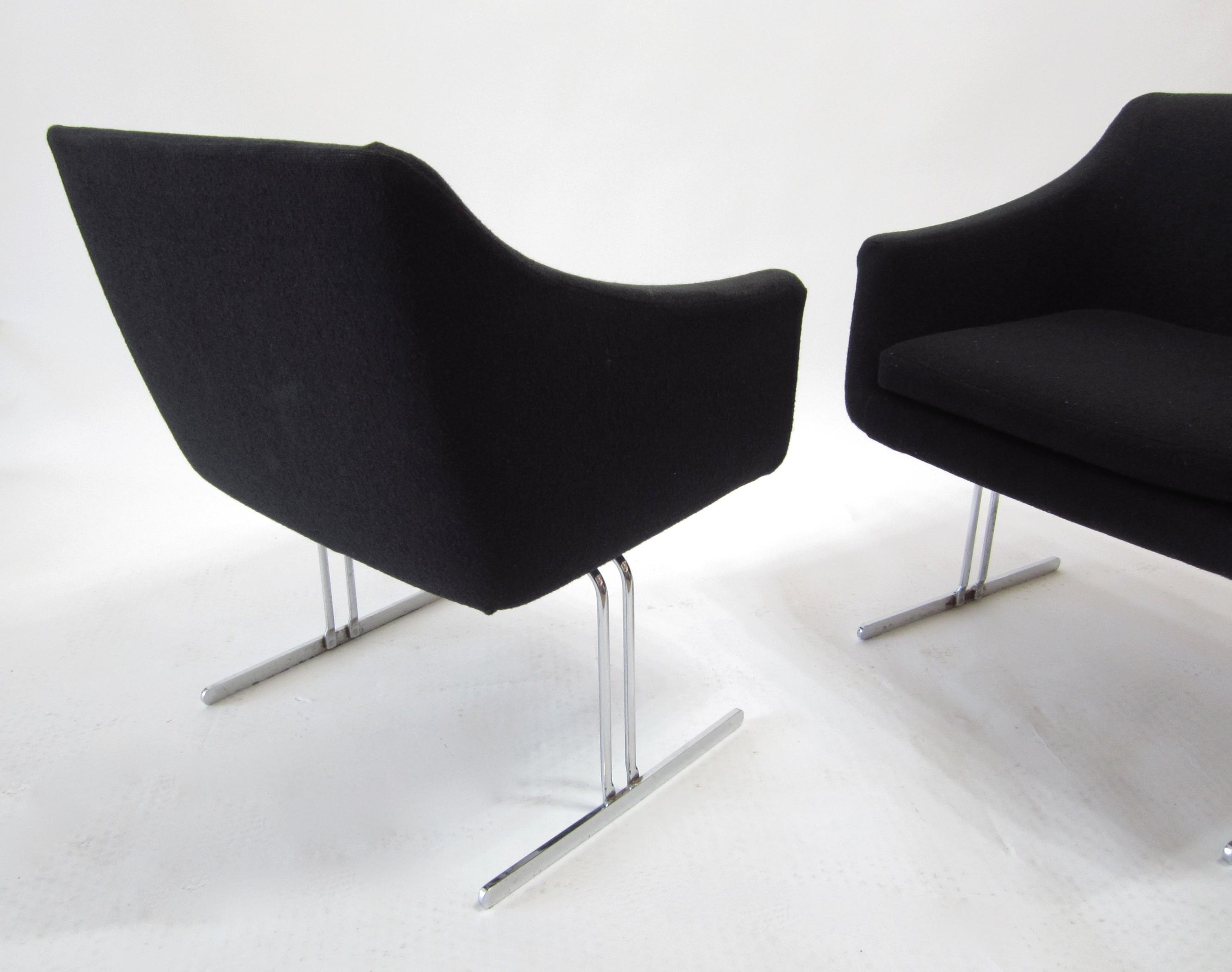 Charmant Hugh Acton By Vecta Group Italy Chrome Frame Lounge Chairs   A Pair   Image  4