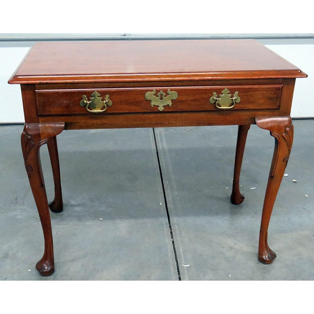 Brown Kittinger Queen Anne Style Writing Desk For Sale - Image 8 of 8