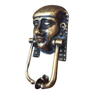 20th Century Egyptian Revival Brass Door Knocker