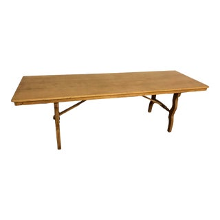 English Antique Solid Wood Long and Narrow Dining Table For Sale