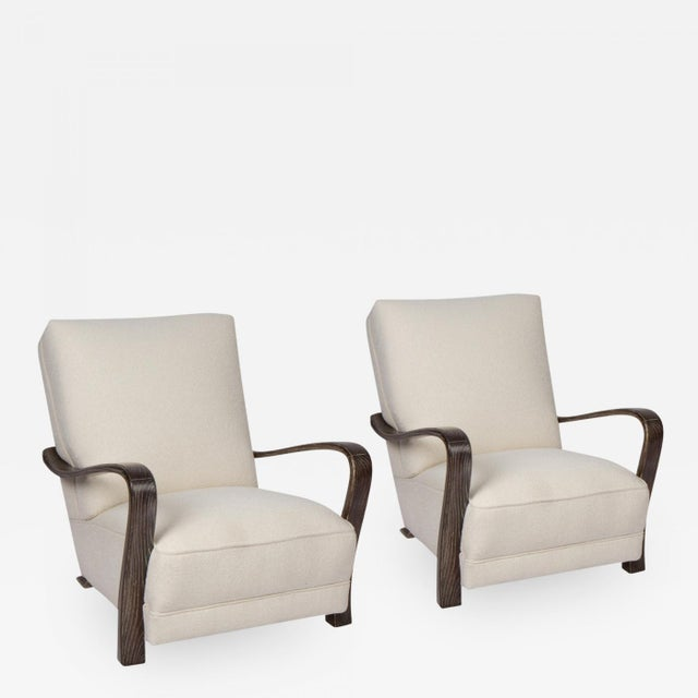 1920s 1920s French Art Deco Lounge Chairs - a Pair For Sale - Image 5 of 5