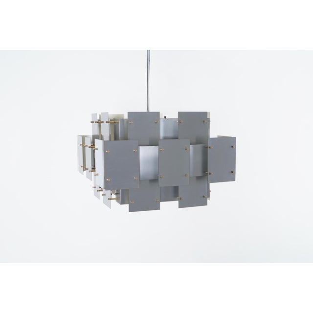 "Vintage ""Cityscape"" Chandelier by Robert Sonneman - Image 2 of 7"