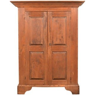 Queen Ann Pennsylvania Walnut Kas Two Door Raised Panels, 18th Century For Sale