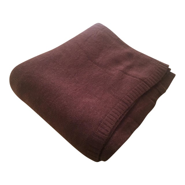 Chocolate Brown Cashmere Blanket - Image 1 of 10
