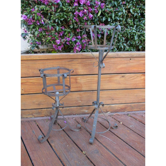 French Mediterranean Iron Planters - A Pair - Image 5 of 9