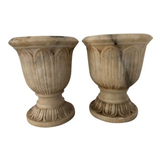 1970s Marble Cachepots - a Pair For Sale